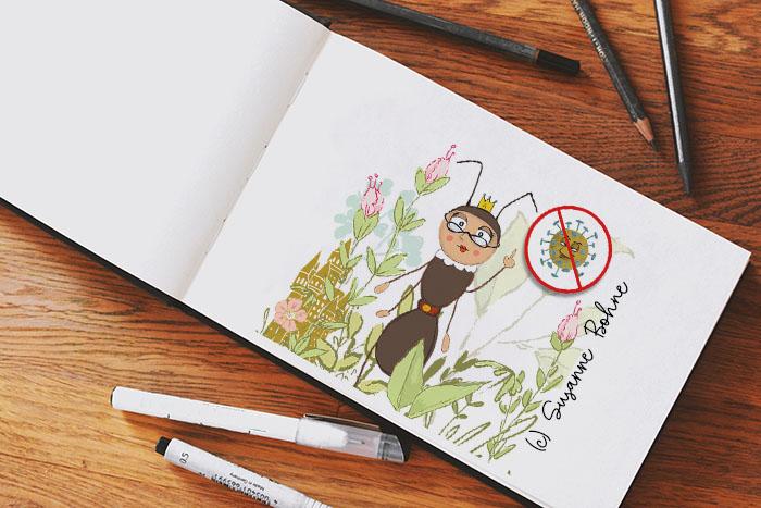 Angelika Ameise_Wilma Wochenwurm_Corona Kinderbuch_Susanne Bohne