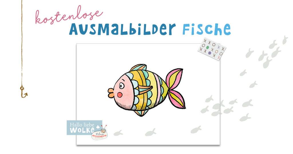 Ausmalbilder Fische kostenlos Malvorlage ausmalen Malbild Kita K