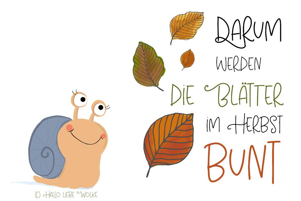 Darum werden die Blätter im Herbst bunt, Malvorlage Laub, Blätter, Herbst, Ausmalbild, Kindergarten, Kita, Vorschule, Bunt, Herbst