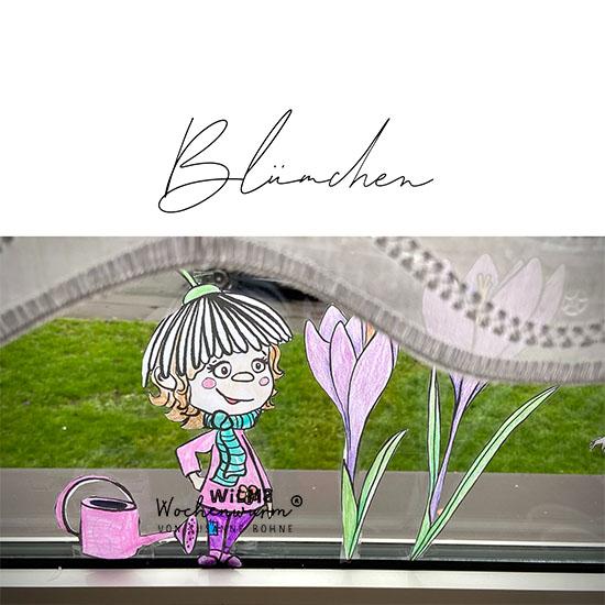 Eine Geschichte für Kinder im Frühling von Susanne Bohne Fensterbilder Frühblüher Narzisse Tulpe Primel Knospen Gänseblümchen