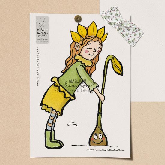 Eine Geschichte für Kinder im Frühling von Susanne Bohne Fensterbilder Frühblüher Narzisse