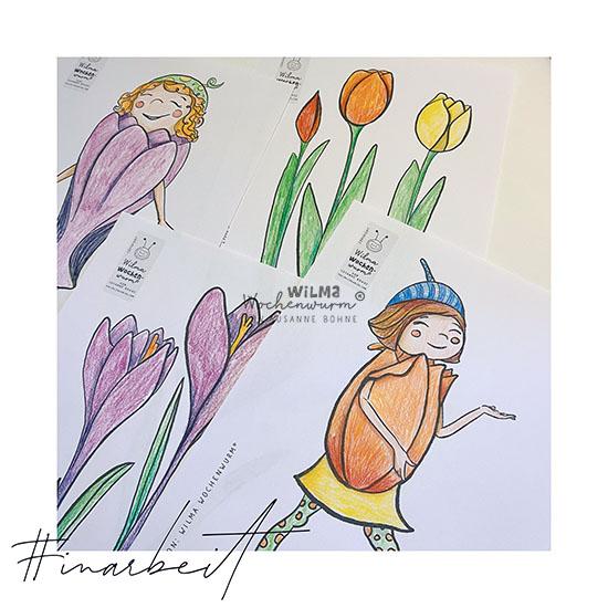 Eine Geschichte für Kinder im Frühling von Susanne Bohne Tulpe Fensterbilder Frühblüher