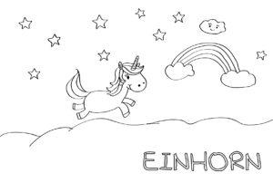 Einhorn_Malvorlage Hallo liebe Wolke