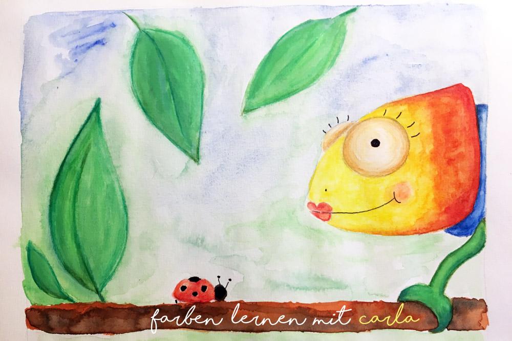 Farben lernen für Kinder in Kita Kindergarten Freebie