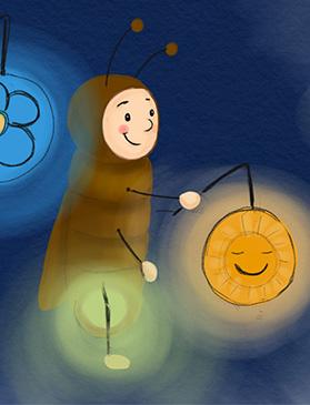 Glühwürmchen Bert und die Laterne_Warum wir St. Martin_Sankt Martin_ feiern_Eine Lerngeschichte für Kinder in Kita Krippe Kindergarten und Vorschule