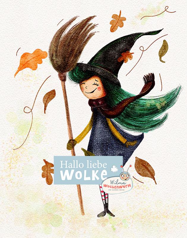 Halloween Geschichte für Kinder Wilma Wochenwurm Hexe Mimosell Zauberstaub vorlesen Kita Kindergarten