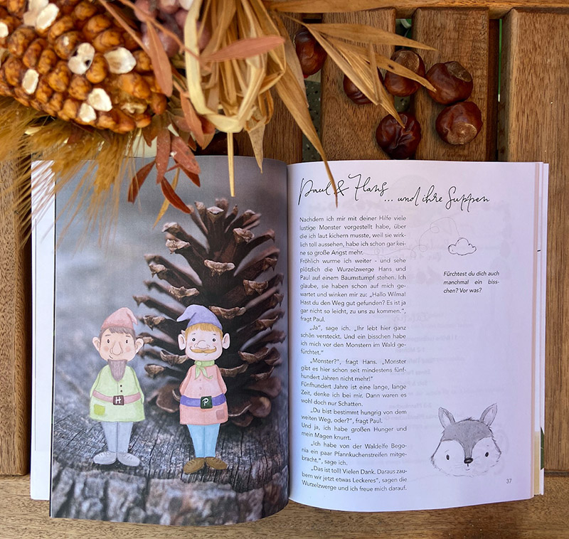 Kochen backen mitmachen mit Wilma Wochenwurm Herbst und Winter Kinderkochbuch Pfannkuchen Suppen Rezepte Weihnachtsplätzchen