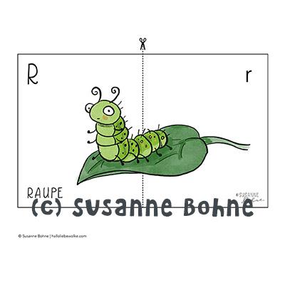 Lerngeschichten mit Wilma Wochenwurm Das wurmstarke Vorschulbuch Buchstabenkarten Buchstaben lernen Susanne Bohne
