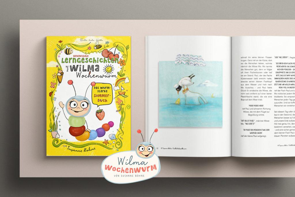 Lerngeschichten mit Wilma Wochenwurm Sommer Mupf das Müllmonster wurmstarke Sommerbuch Paul und das Plastik