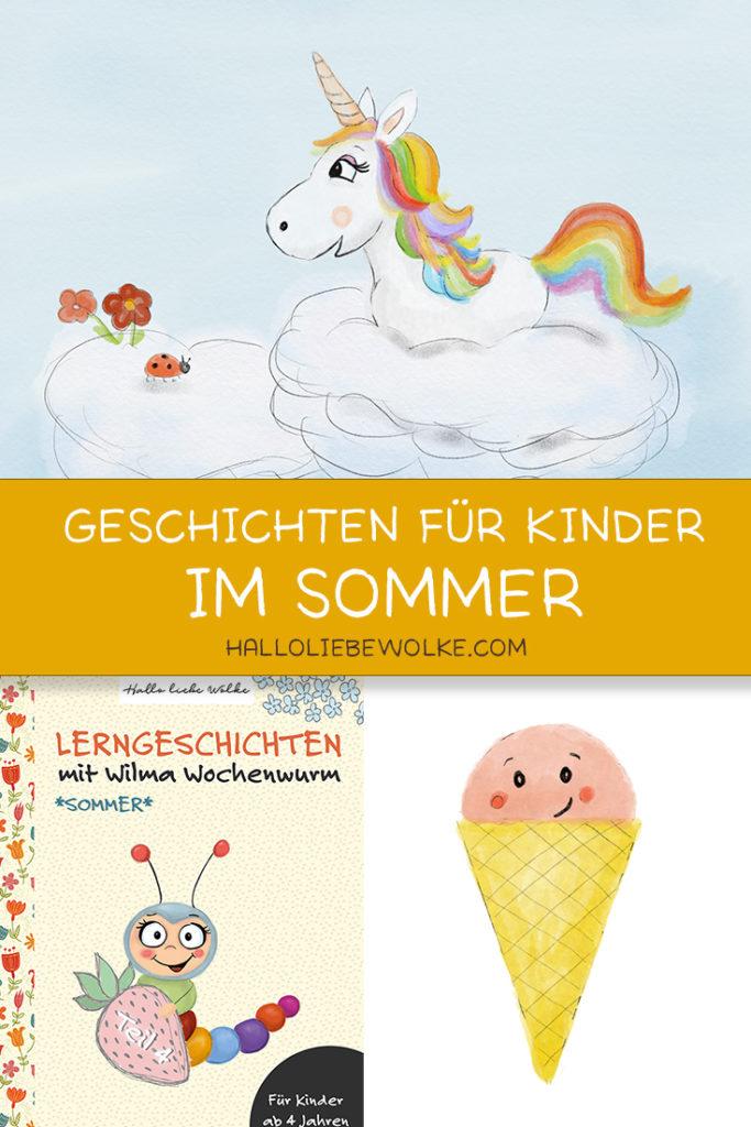 Lerngeschichten mit Wilma Wochenwurm Teil 4 Sommer Urlaub Ferien - Geschichten zum Vorlesen und Mitmachen für den Kindergarten und die Vorschule für Kinder ab 4 Jahren mit Rätseln und Ausmalbildern