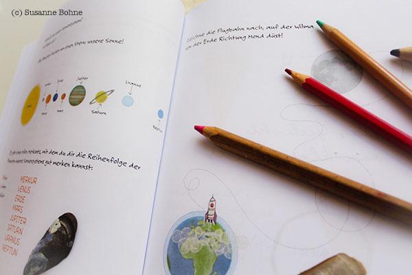 Lerngeschichten mit Wilma Wochenwurm Teil 4 Sommer Urlaub Ferien Kinderbuch Lernheft Sonnensystem