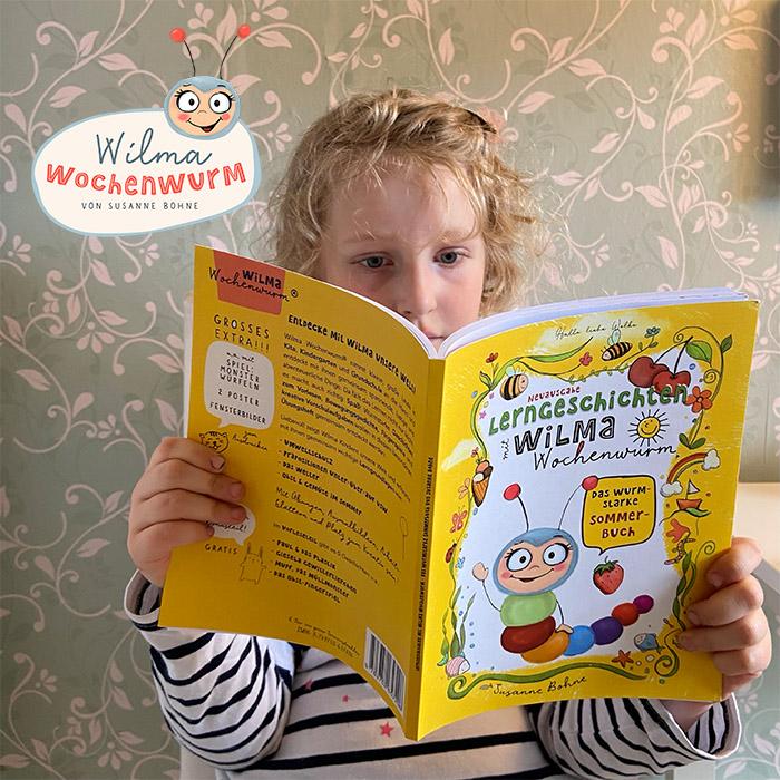 Lerngeschichten mit Wilma Wochenwurm das Wurmstarke Sommerbuch (c) Susanne Bohne