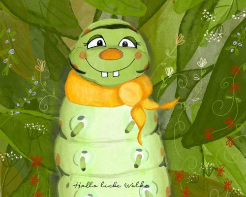 Lukas hat Hunger - Von der Raupe zum Schmetterling - eine Geschichte für Kinder im Kindergarten und Grundschule - Lerngeschichte