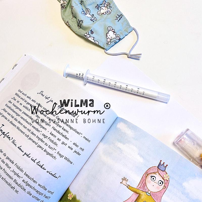 Prinzessin Blaublüte Wilma Wochenwurm was ist impfen kinder kind schulkind kindergarten grunschule arbeitsblatt material projekt buch lernheft