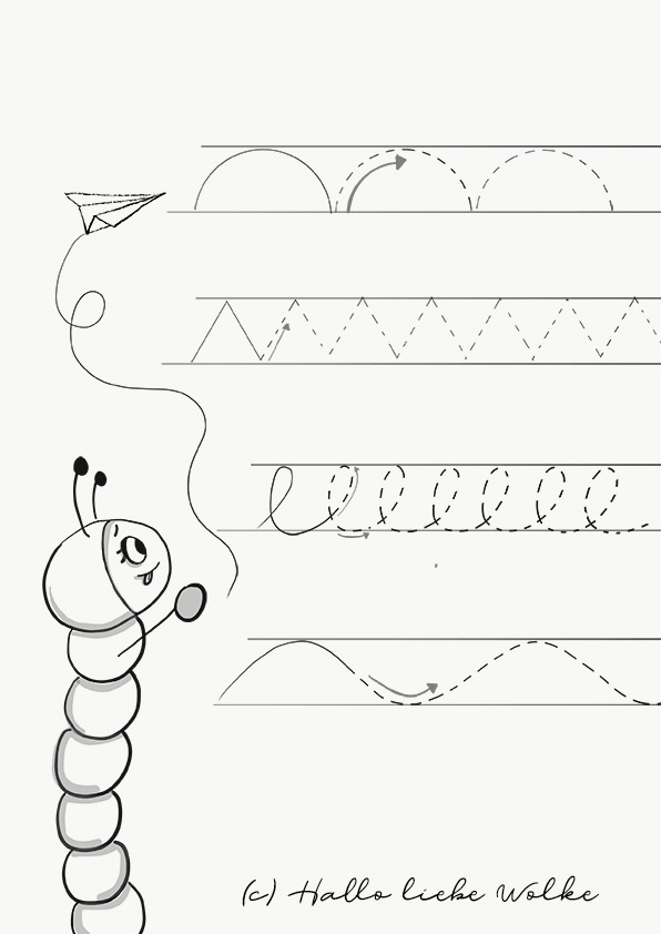 Schwungübungen mit Sina Schwungwurm_Papierflieger