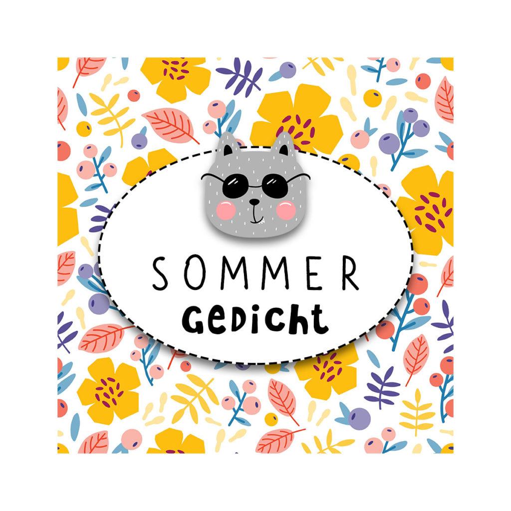 Sommergedicht für Kinder von Wilma Wochenwurm Hallo liebe Wolke Gedicht Sommer Sommermonate Kita Kindergarten