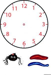 Uhr lesen lernen basteln