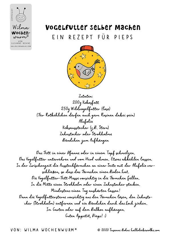 Vogelfutter selber machen - Ein Rezept für Pieps - von Susanne Bohne