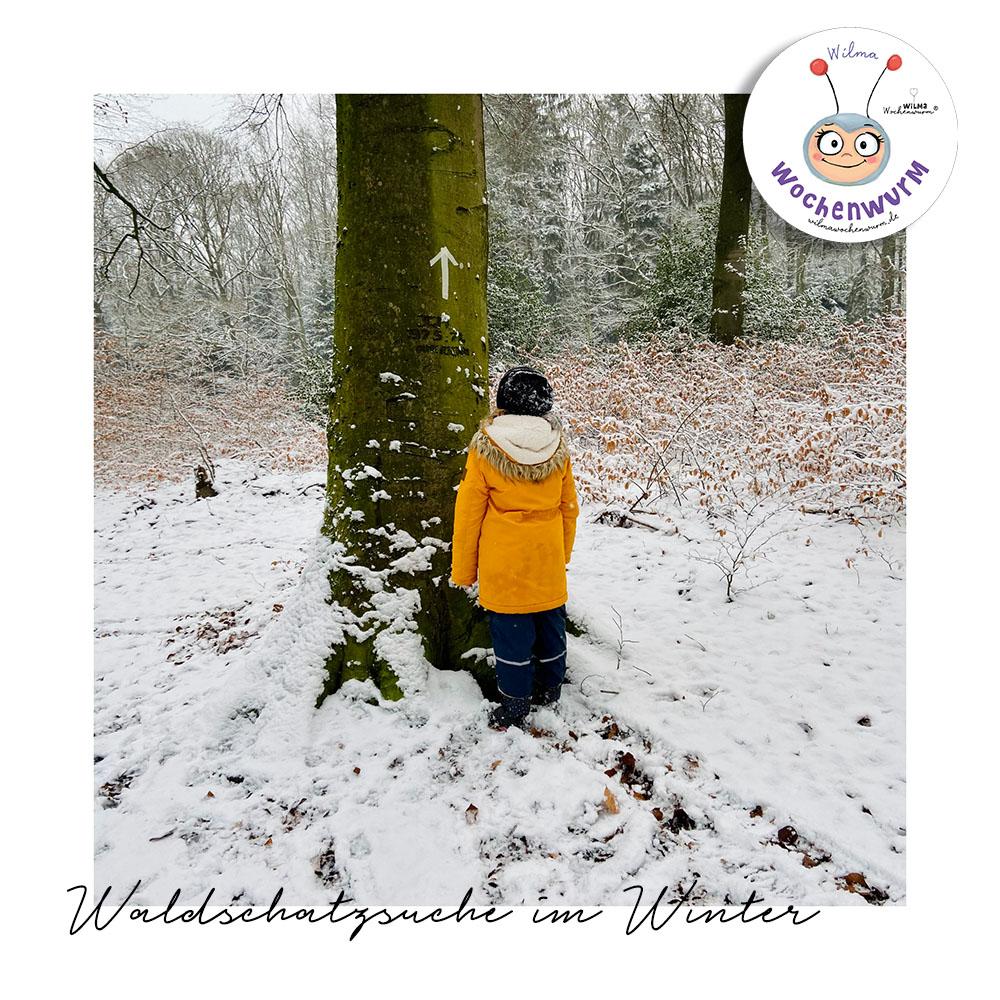 Vorlage Waldschatzsuche Kinder Winter PDF kostenlos Kita Kindergarten Grundschule Beschäftigung
