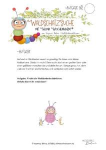 WIlma Wochenwurm Waldschatzsuche von Susanne Bohne