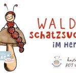 Waldschatzsuche für Kinder im Herbst Kita Kindergarten Grundschule kostenlos PDF Vorlage ausdrucken Wilma Wochenwurm