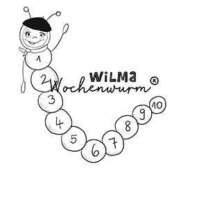 Wilma Wochenwurm Zahlen lernen Zora Zahlenwurm