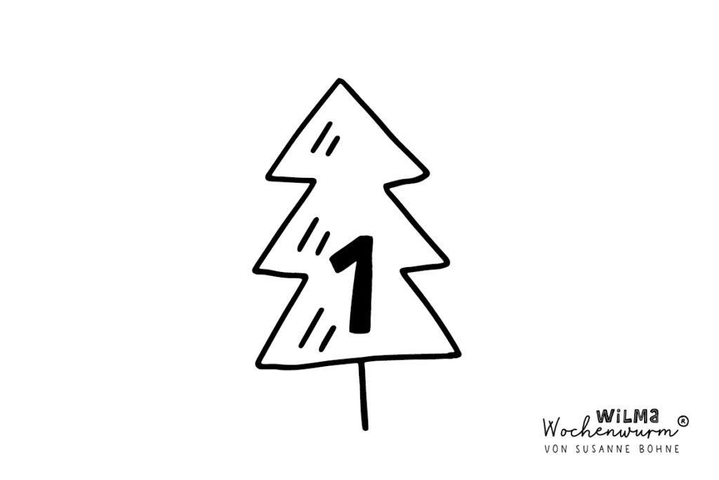 Wilma Wochenwurm Adventsgeschichte täglich jeden Tag Nr 1 von Susanne Bohne