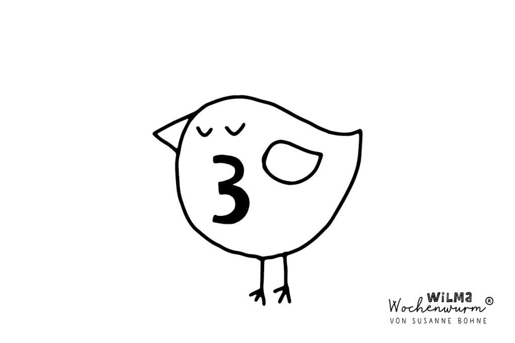 Wilma Wochenwurm Adventsgeschichte täglich jeden Tag Nr 3 von Susanne Bohne