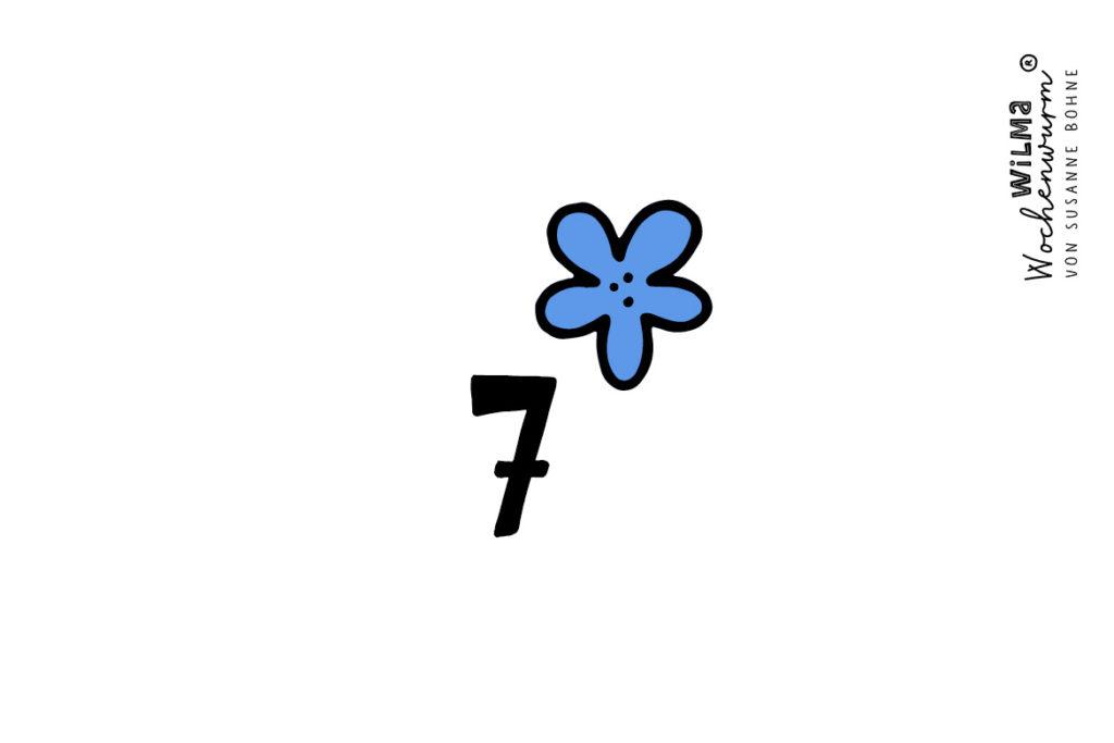 Wilma Wochenwurm Adventsgeschichte täglich jeden Tag Nr 7 Prinzessin Blaublüte von Susanne Bohne
