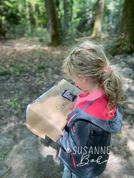 Wilma Wochenwurm Waldschatzsuche Schatz von Susanne Bohne