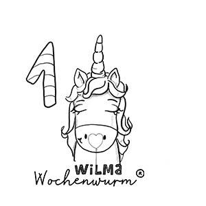 Wilma Wochenwurm Zahlen lernen 1