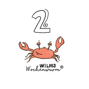 Wilma Wochenwurm Zahlen lernen 2