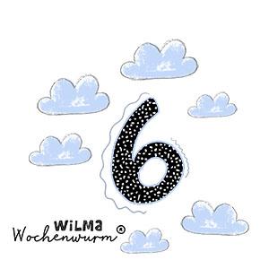 Wilma Wochenwurm Zahlen lernen 6