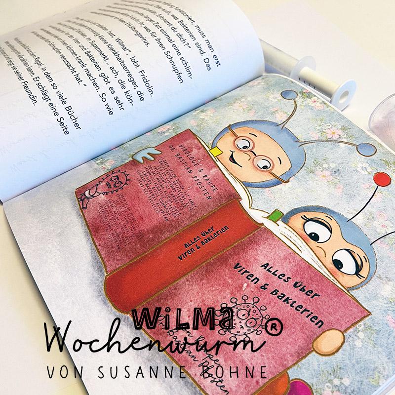 Wilma Wochenwurm erklärt Impfen Virus Dr Fridolin Famos Poster Corona Masern Impfung Kinder Kita Kindergarten Grundschule Geschichte vorlesen kostenlos Vorlesegeschichte