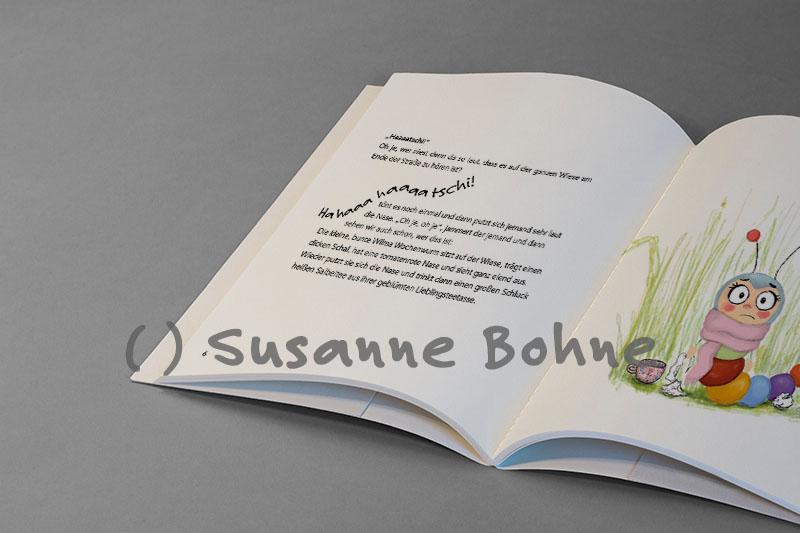 Wilma Wochenwurm erklärt Virus Lerngeschichte Kinder Arzt Susanne Bohne Hallo liebe Wolke Kinderbuch 2