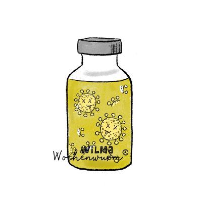 Wilma Wochenwurm erklärt Was ist Impfen Halsweh Lerngeschichte Kinderbuch Impfung Kita Impfserum von Susanne Bohne