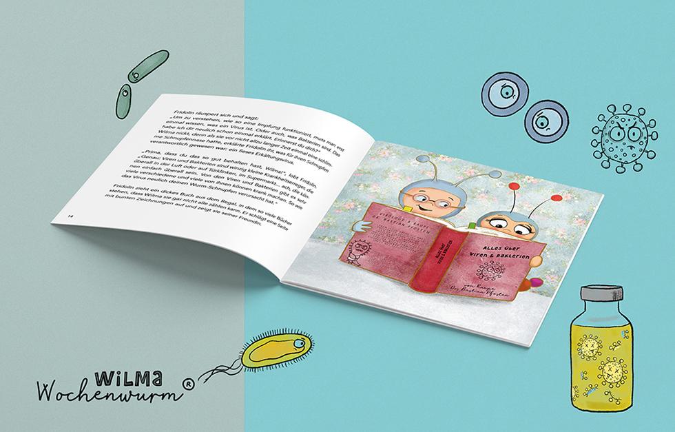 Wilma Wochenwurm erklärt Was ist Impfen Halsweh Lerngeschichte Kinderbuch Impfung Kita Grundschule Dr Fridolin Famos von Susanne Bohne