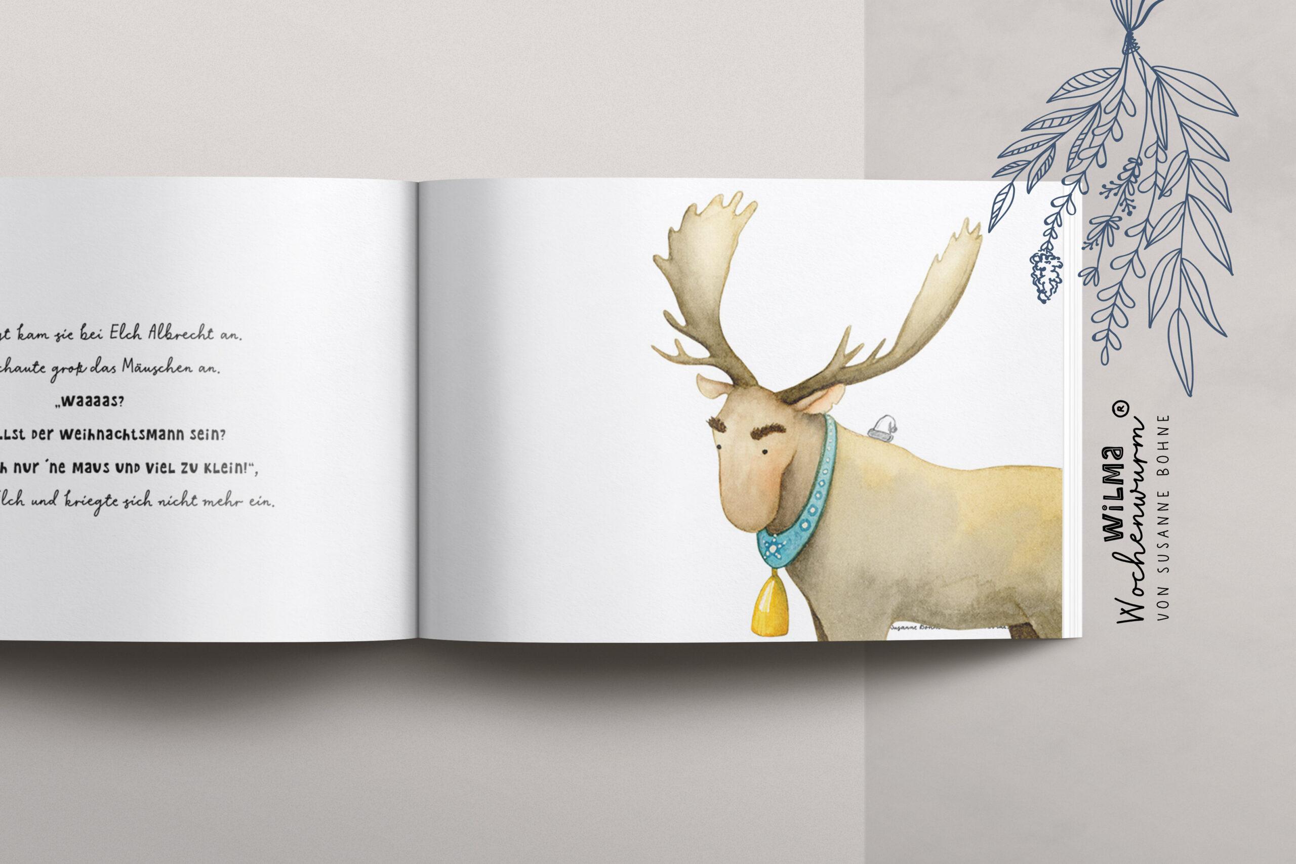 Wilma Wochenwurm erzählt - Die Weihnachtsmann-Maus namens Claus von Susanne Bohne Reimgedicht Weihnachten