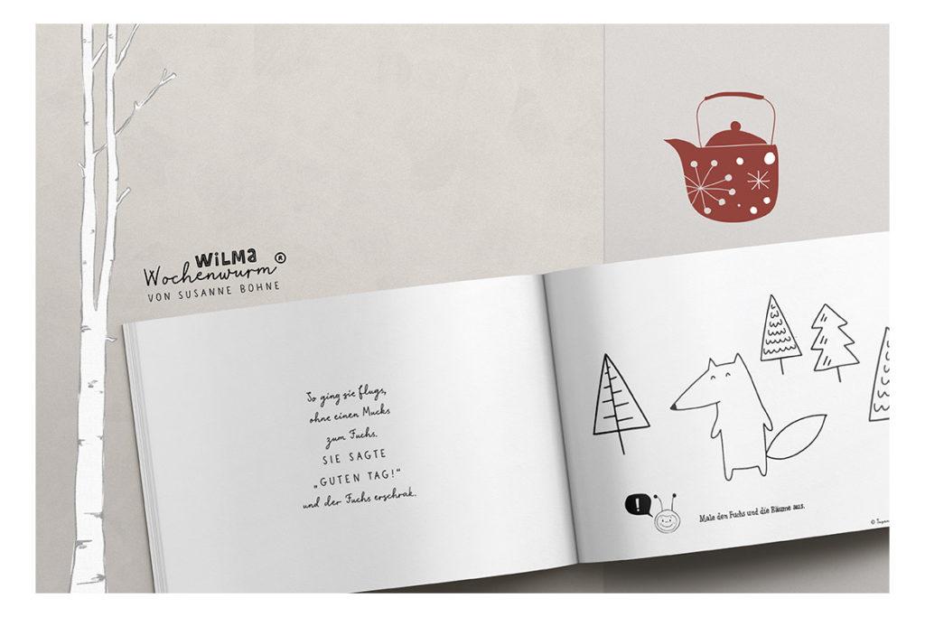 Wilma Wochenwurm erzählt - Die Weihnachtsmann-Maus namens Claus von Susanne Bohne Reimgedicht für Kinder