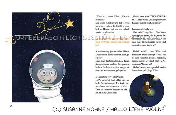 Wilma Wochenwurm_Teil 4 Sommer Ferien Urlaub_Susanne Bohne_Lerngeschichten für Kinder ab 4 Jahren_Sternschnuppe