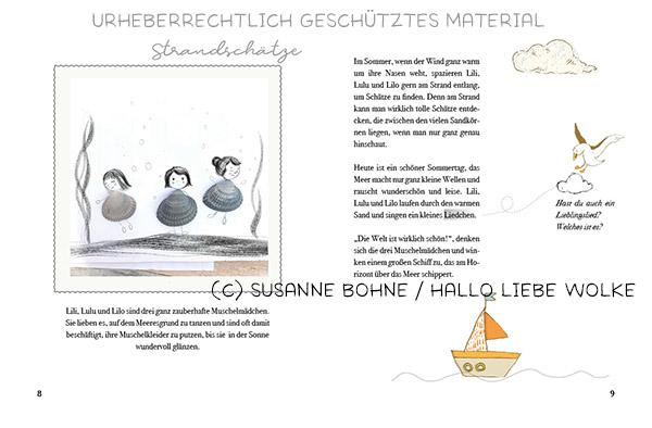 Wilma Wochenwurm_Teil 4 Sommer Ferien Urlaub_Susanne Bohne_Lerngeschichten für Kinder ab 4 Jahren_Strand