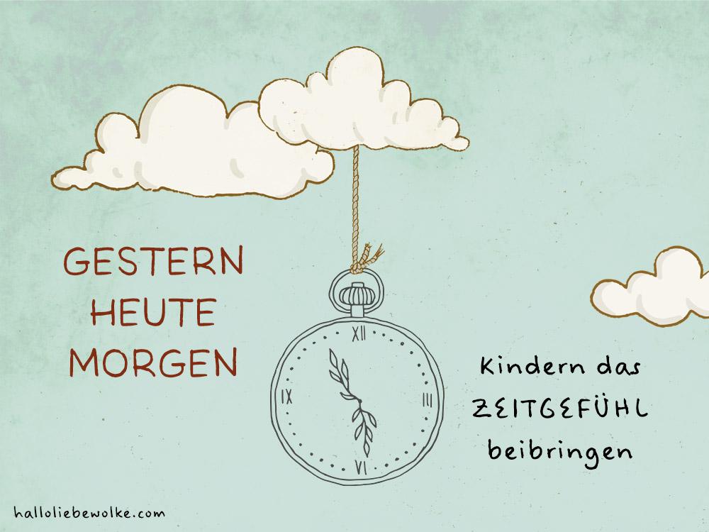 Zeitgefühl Kinder gestern heute morgen übermorgen lernen Wilma Wochenwurm Kita KIndergarten Vorschule Grundschule